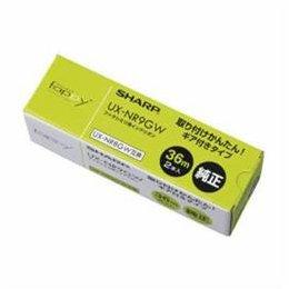 SHARP UX-NR9GW 普通紙FAX用インクリボン ギア付きタイプ 36m×2本 【まとめ 4セット】 B07KNTB549