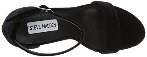 Steve Madden Fodtøj Damer Carrson Sandal Ankel Strop Sort (sort) jCcvh6GV