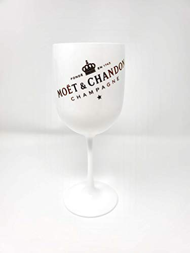 Moet Chandon Ice Imperial White Plastic Acrylic Goblet By Moet Version 2 Single-Sided (Moet Champagne Glass)