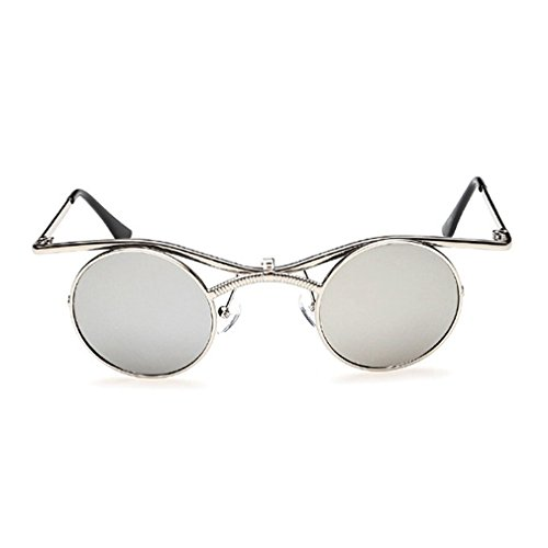LOMOL Retro Trendy Steampunk Flip Lens UV Protection Personality Round - Goggles Uk Anon