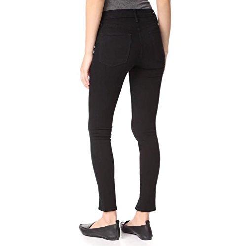 Strappati Stretch Jeans Skinny Fit A Matita Scarni Split Stirata Donne Wanyang Nero Alta Vita Slim Pantaloni X4HqnxCgwW