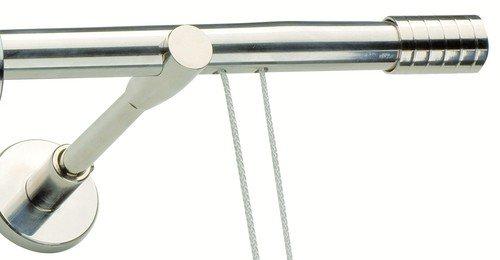 Bastoni per tende acciaio cromato for Tende senza bastone