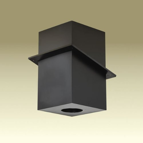 Copperfield 69680 6 Inch Dura-Vent Dura/plus Cathedral Ceiling Support, Galvalume Painted Black, Trim Collar - Inch Trim Dura 6 Vent