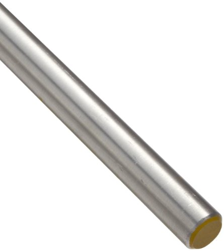 7068 Aluminum Round Rod, Unpolished (Mill) Finish, T6511 Temper, AMS 4331, 1.50'' Diameter, 36'' Length by Small Parts