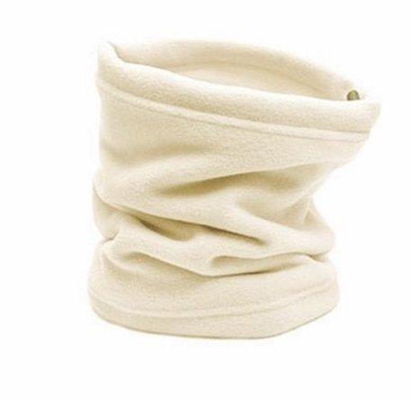 Neck Warmer Outdoor Fleece Scarf turtleneck collar men and women winter multifunctional headgear warm mask hat Beige