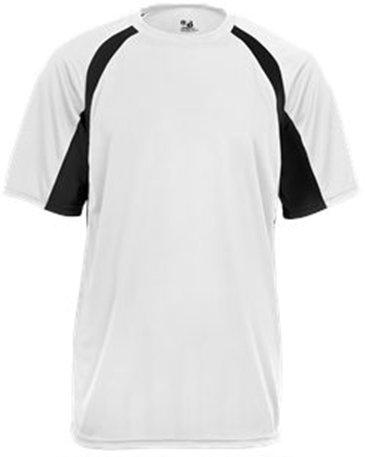 - Badger Sport Adult Unisex B-Core Hook S S Performance Tees Black White