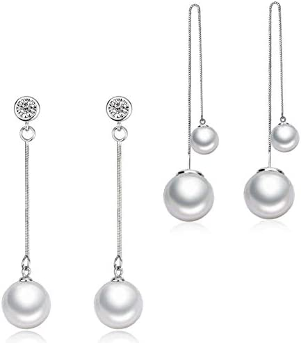 earring blank gift DIY 1 pair solid sterling silver 925 silver with Rhodium plated for pearl or gems jewelry DIY earring mounting