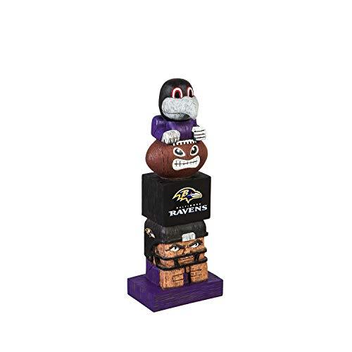 Team Sports America NFL Baltimore Ravens 12 Inch Tiki Totem ()