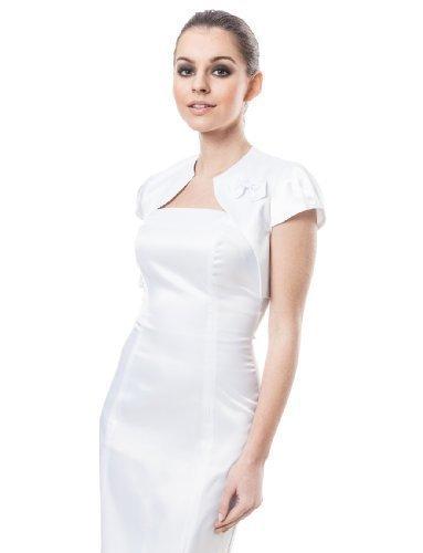 ng party bridal satin bolero cocktail jacket shrug cap sleeve (Satin Wedding Bridal Bolero)