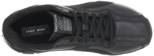 Skechers Sport Mens Split Quater Brace Lace-up Nero