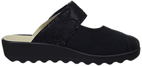 100 Zapatillas Mujer Estar 12 Home Casa schwarz 117 Romika Por Gina De Para Negro qwHCctOU