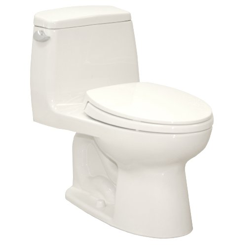 TOTO MS854114SG#01 Ultramax Elongated One Piece Toilet with Sanagloss, Cotton White