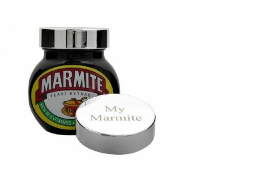 Silver Plated \'My Marmite\' Lid - supplied boxed Roberts & Dore