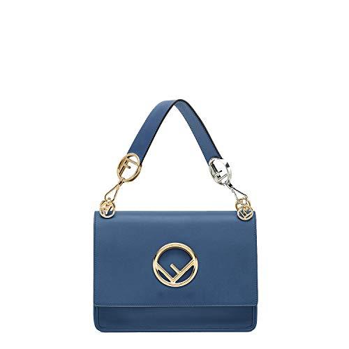 Handbag Blue Fendi (kimi-Fendi Women's Medium Multicolor KAN I F fashion Shoulder Bag for women in new style (blue))