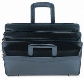 Leather Zippered Portfolio Black 16-1//2 x 2-1//2 x 11-1//2