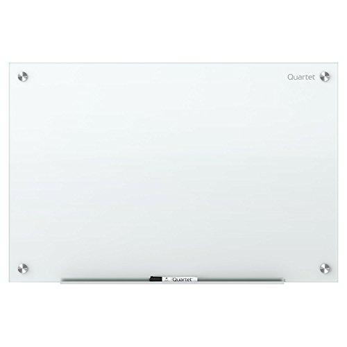 Quartet Glass Dry Erase Board, Whiteboard / White Board, 48'' x 36'', White Surface, Frameless, Infinity (G4836NMW) by Quartet
