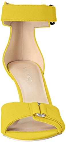 Nine West mujer sintético Gainey Heeled Sandal Amarillo