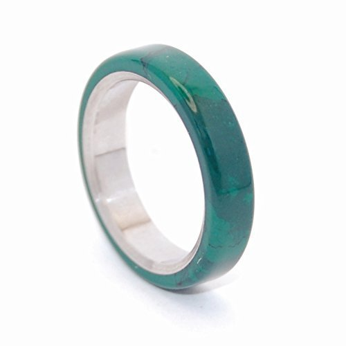 (Titanium hand-made wedding rings - ALL I WANT IS YOU AND JADE)