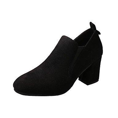 RTRY La Mujer Tacones Zapatos Formales Pu Caída Casual Office &Amp; Carrera Caminando Vestido Zapatos Formales Chunky Talón Caqui Negro De 2A-2 3/4 Pulg. US7.5 / EU38 / UK5.5 / CN38