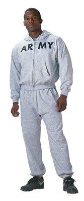 Grey Army Physical Training Zipper Sweatshirt