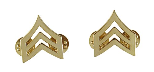 Police Fire EMS Army Collar Brass Pins Insignia Emblem Badges (Assorted Styles) (Sergeant - ()