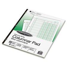 Columnar Pad, 5 Columns, 50 Sheets, 11''x8-1/2'', Green, Sold as 1 Pad, 50 Each per Pad