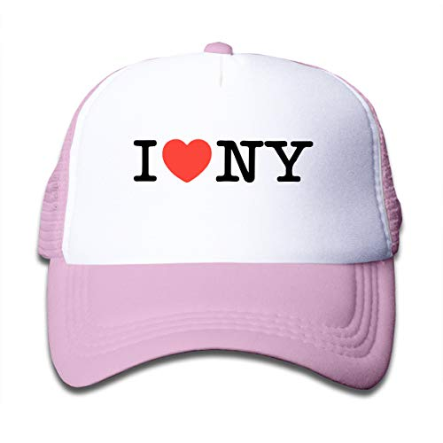 Toddler Trucker Hat I Love NY New York Heart Mesh Caps Adjustable Classic Baseball Cap for Boys and Girls Pink (Young B Love And Hip Hop New York)