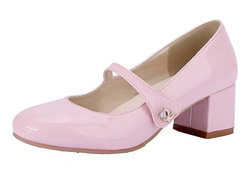 L Agoolar Chaussures Couleur Rond Tire Unie Femme nwaqafvCx0
