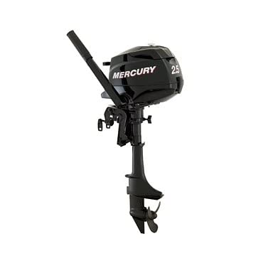 Mercury 2.5 HP 4 Stroke Outboard Motor Tiller 15 Shaft Boat Engine