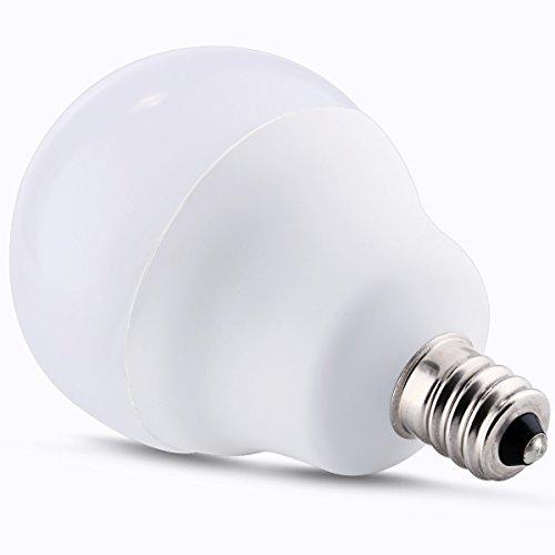 Jcase Led Globe Light Bulbs Candelabra Base 5w 40w