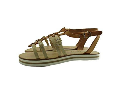 Silfer Shoes - Sandalias de vestir de Piel para mujer multicolor Cuoio Bianco