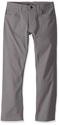 IZOD Men's Saltwater Stretch Flat Front Straight Fit Chino Pant, Cinder Block, 34W x 30L (Khaki Chino Dress)