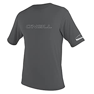 O'Neill Men's Basic Skins UPF 50+ Short Sleeve Sun Shirt, Smoke, Medium