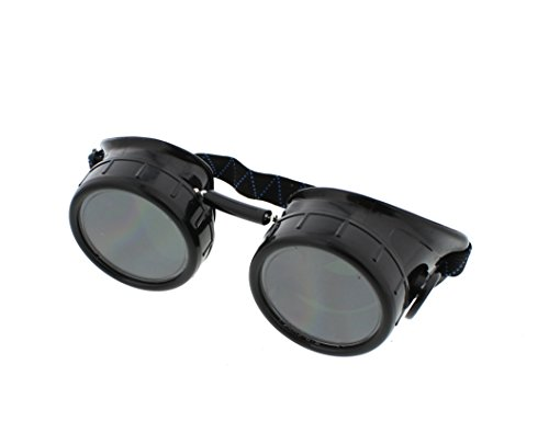 Black Welding Cup Goggles - 50mm Eye Cup (Easy Comfortable Costumes)