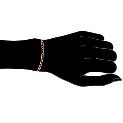14k Solid Real Yellow Gold Link Charm Bracelet 7 1/4'' by Ritastephens (Image #2)