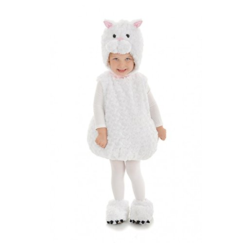 Underwraps Baby's Cat Belly, White, (Mom And Baby Cat Costume)