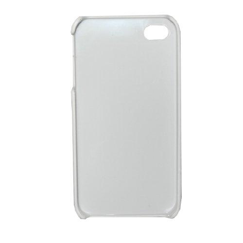 Cas de l'iPhone 4 / 4S: Conception Leopard Skin Hard Cover Protector Case pour Apple iPhone 4 / 4S - rouge & blanc