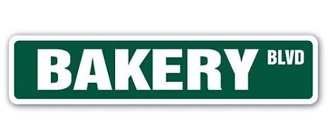 Amazon.com: [signjoker] Panadería Street Sign Pastelería ...