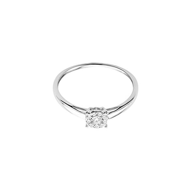 Miore - Anello di fidanzamento da donna in oro bianco 375 a 9kt e diamanti brillanti da 0,10 kt 3 spesavip