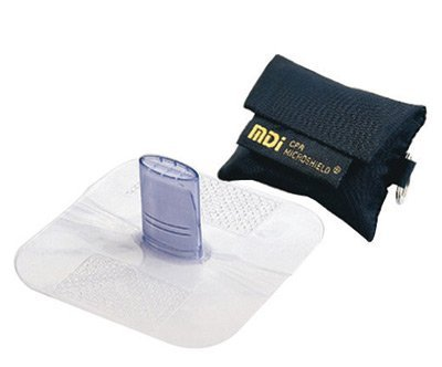 MDI® Microshield® MicroKey CPR Rescue Breather With Attached Key Ring (Black Nylon Case) (Black Microshield Cases)