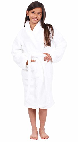 Turkuoise Girls Ultra Soft Plush Bathrobe Made in Turkey