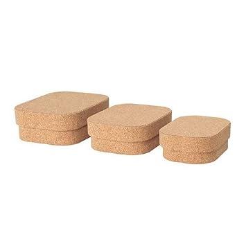 Ikea Sammanhang Caja + Tapa Corcho Juego de Tres