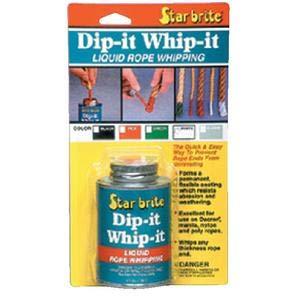 Star Brite 84908 Dip-It Whip-It 4 oz Black NEW WORLD MARINE