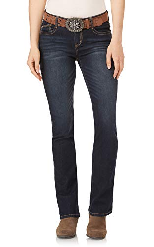 WallFlower Womens Juniors Belted Low-Rise Legendary Slim Bootcut Jeans in Shay, 15