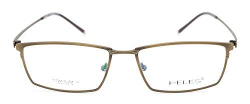 Heles Unisex Pure Tianium Full Rim Glasses Optical Frame Prescription Eyeglasses Frames very light in weight 14g 5416142