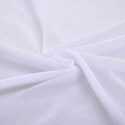 neck Chiffon Natrual line Bridesmaid Dress Straps Long Special White V Occasional A Rgnw7xn