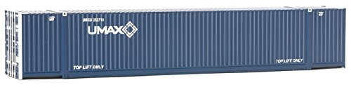 Walthers Ho Scale Container - Walthers SceneMaster HO Scale 53' Singamas Corrugated-Side Container - Assembled -- UMAX (blue, white)
