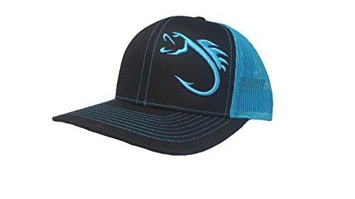 Richardson 3D Puff Fish Hook Hat Cap Adult Adjustable Snapback Unisex ()