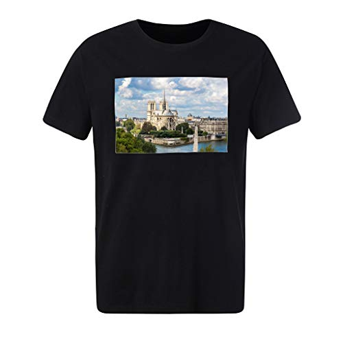 Fashion Summer Men's Printing Tees T-Shirt Short Sleeve Tops Blouse -