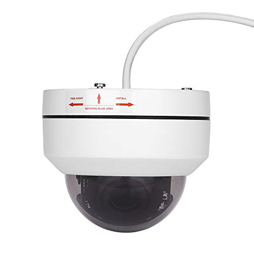 TOMLOV Mini 1080P PTZ HD IP Camera Outdoor POE Security Dome Camera 4X Optical Zoom 2.8-12mm Pan 350° /Tilt 5-80° Onvif Network IR Night Vision Waterproof